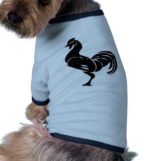 Silueta del gallo ropa de perros