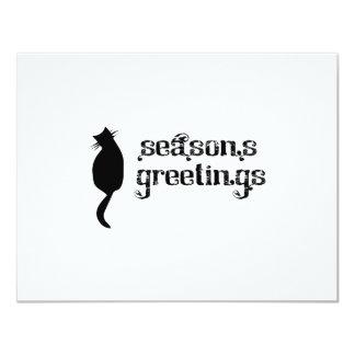 Silueta del gato de los saludos de la estación anuncios personalizados