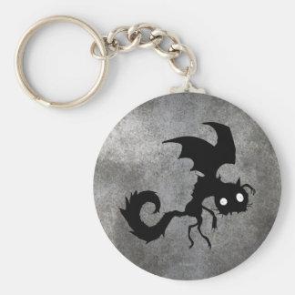 Silueta del gato del vampiro llaveros personalizados