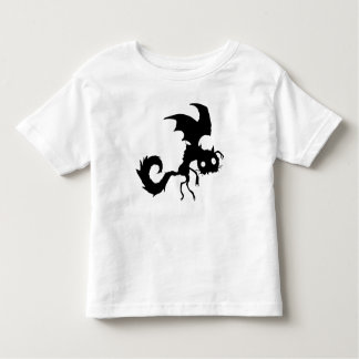 Silueta del gato del vampiro playera de niño