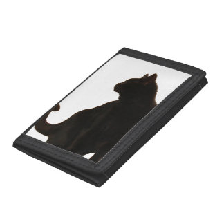 Silueta del gato negro