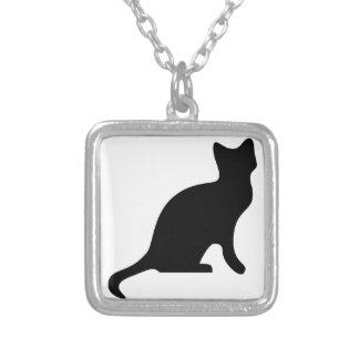 Silueta del gato negro grimpolas personalizadas