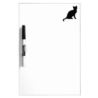 Silueta del gato negro pizarra