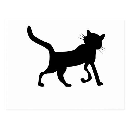 Silueta del gato postal