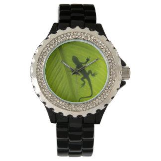 Silueta del Gecko Reloj De Mano