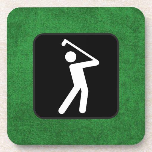 Silueta del golf posavasos de bebida