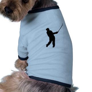 Silueta del golfista ropa de perros