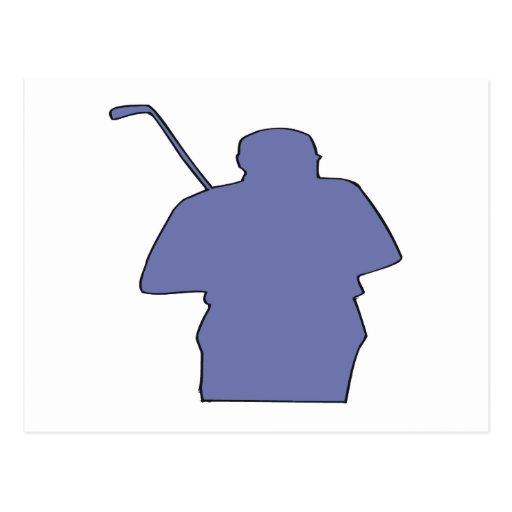 Silueta del golfista tarjeta postal