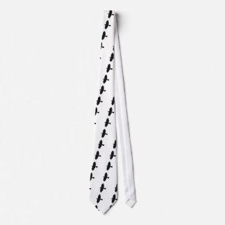 Silueta del grajo en vuelo corbatas personalizadas