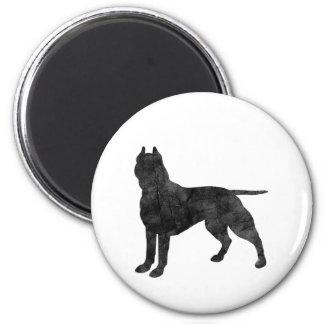 Silueta del Grunge del perro del pitbull Iman De Frigorífico