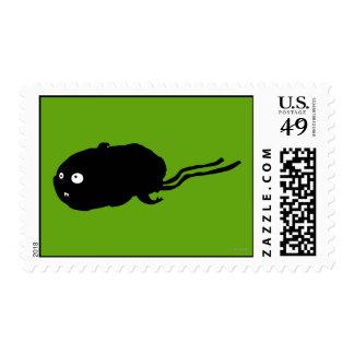 Silueta del hámster de la momia sello postal