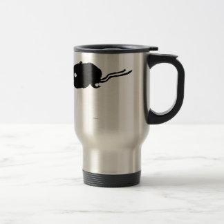 Silueta del hámster de la momia tazas de café
