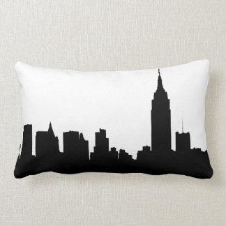 Silueta del horizonte de NYC, edificio #1 del Cojín Lumbar