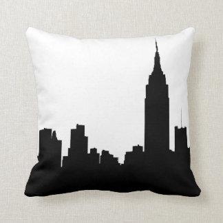 Silueta del horizonte de NYC, edificio #1 del esta Cojin