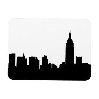 Silueta del horizonte de NYC edificio 1 del esta Iman Flexible