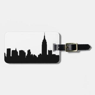 Silueta del horizonte de NYC, edificio #1 del Etiquetas Para Equipaje