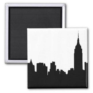 Silueta del horizonte de NYC, edificio #1 del Imán De Frigorífico