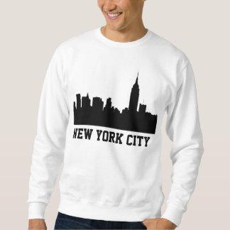 Silueta del horizonte de NYC, edificio #1 del Sudadera Con Capucha