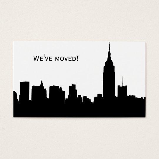 Silueta del horizonte de NYC, ESB #1 - nos hemos Tarjeta De Negocios