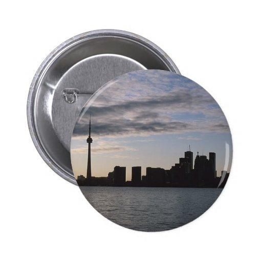 Silueta del horizonte de Toronto Pins