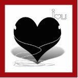 "silueta del iHeart (w/text ""yo ♥ usted"") Esculturas Fotográficas"