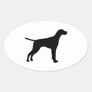 silueta del indicador pegatinas de oval personalizadas