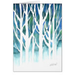 Silueta del invierno tarjeta