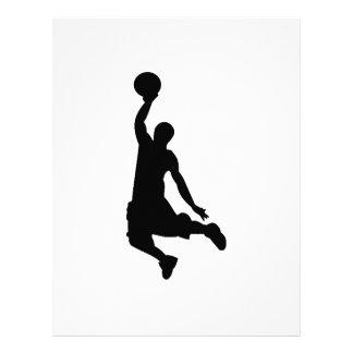 Silueta del jugador de básquet membretes personalizados