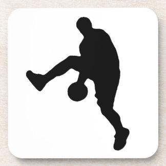 Silueta del jugador de básquet posavasos