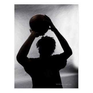 Silueta del jugador de básquet postales