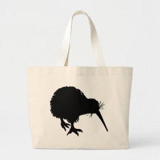 Silueta del kiwi bolsa tela grande