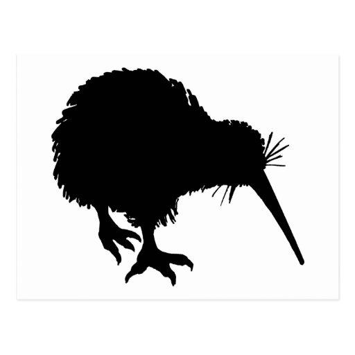 Silueta del kiwi postal