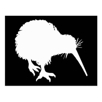 Silueta del kiwi tarjetas postales