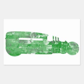 Silueta del ladrillo del verde de Rod de la rata