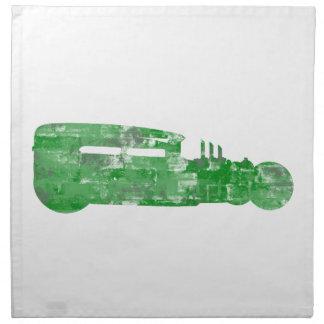 Silueta del ladrillo del verde de Rod de la rata Servilleta