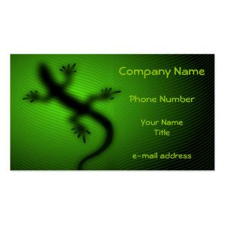 Silueta del lagarto tarjeta personal