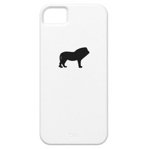 Silueta del león funda para iPhone 5 barely there