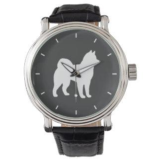 Silueta del Malamute de Alaska Reloj De Mano