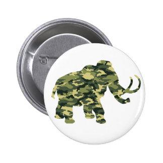 Silueta del mamut de Wolley del camuflaje Pin