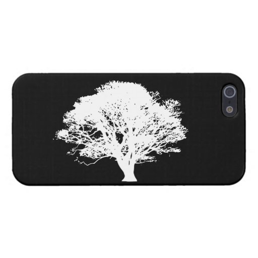 Silueta del manzano iPhone 5 protectores