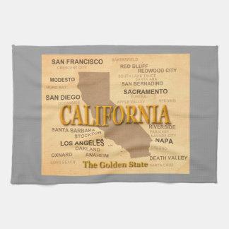 Silueta del mapa del orgullo del estado de Califor