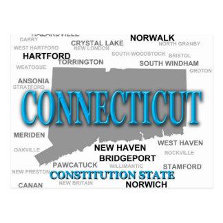 Silueta del mapa del orgullo del estado de Connect Tarjetas Postales