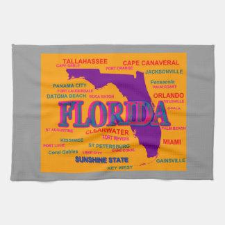 Silueta del mapa del orgullo del estado de la toallas de mano