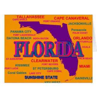 Silueta del mapa del orgullo del estado de la tarjeta de felicitación grande