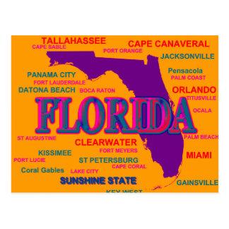 Silueta del mapa del orgullo del estado de la tarjetas postales