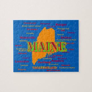 Silueta del mapa del orgullo del estado de Maine