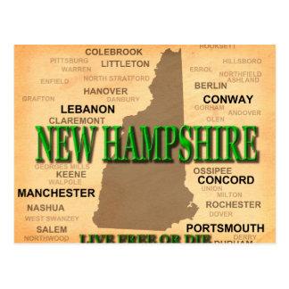 Silueta del mapa del orgullo del estado de New Ham Postales