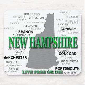 Silueta del mapa del orgullo del estado de New Mousepads