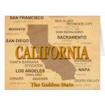 Silueta del mapa del orgullo del estado de tarjeta de felicitación grande