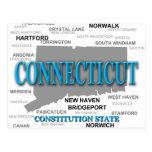 Silueta del mapa del orgullo del estado de tarjetas postales